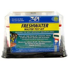 The API Master Freshwater Test Kit tests tap water and aquarium water for five different conditions that affect the health of freshwater fish: pH, High Range pH, Ammonia, Nitrite and Nitrate.