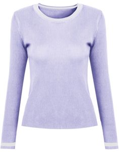 Blue Long Sleeve Slim Knit Sweater - Sheinside.com
