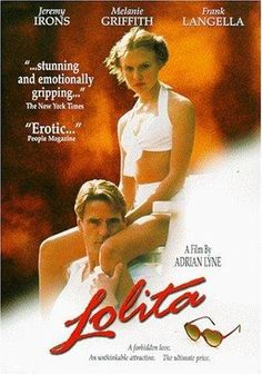 Available in: DVD.Adapted from the novel by Vladimir Nabokov (previously filmed by Stanley Kubrick in Lolita stars Jeremy Irons as Humbert Lolita 1997, Lolita Movie, Vladimir Nabokov, Melanie Griffith, Movies And Series, Movies And Tv Shows, Love Movie, Movie Tv, Pulp Fiction