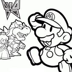 79 meilleures images du tableau coloriage mario coloring books coloring pages et colouring pages - Mario gratuit ...