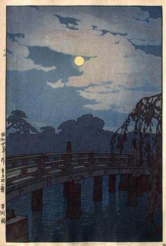 hanga gallery . . . torii gallery: Hirakawa Bridge by Hiroshi Yoshida