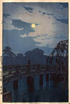 Hirakawa Bridge  by Hiroshi Yoshida, 1929