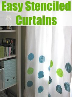 easy stenciled curtains, crafts, how to, window treatments