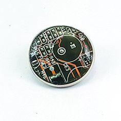 Botón SnapTECH intercambiable de circuito electrónico amarillo 20mm