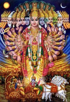 The Cosmic form Krishna. Abhimanyu Would Have Killed Krishna Hare Krishna, Krishna Art, Krishna Drawing, Krishna Statue, Ganesha Art, Hindu Art, Lord Krishna Images, Krishna Pictures, Spirituality