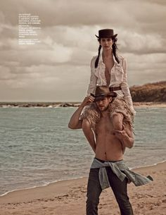"""Amanda Wellsh and Will Chalker in """"Paris Dallas"""" for Vogue Russia"""