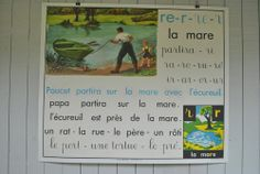 Lovely educational poster teaching reading and writing...