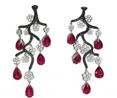 """Chopard earrings as a symbolic """"Tree of Wishes"""""""