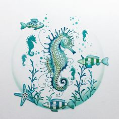 Seahorse clear stamp