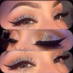 Glitter eye Makeup Look