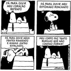 Snoopy com insônia