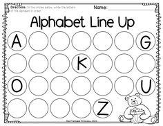 Homework sheets for kindergarten
