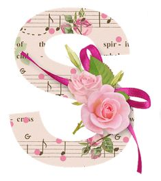 Alphabet with Roses in Musical Background. - Oh my Alfabetos! Alphabet A, Alphabet Letters Design, Flower Alphabet, Monogram Letters, Letters And Numbers, Floral Letters, Alphabet Wallpaper, Name Wallpaper, Live Wallpaper Iphone