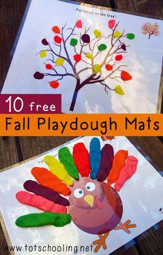 Чем занять ребенка - Playdough Mats (Free) ~ Hungry Fox