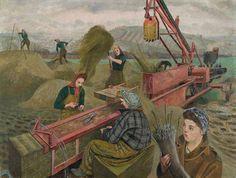 Evelyn Dunbar; 'Baling Hay'; 1940