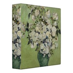 Vase of Roses by Vincent Van Gogh Binders