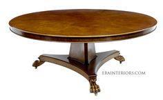 empire round dining table Custom Dining Tables, Round Dining Table, Dining Room, Interior, Empire, Furniture, History, Home Decor, Historia