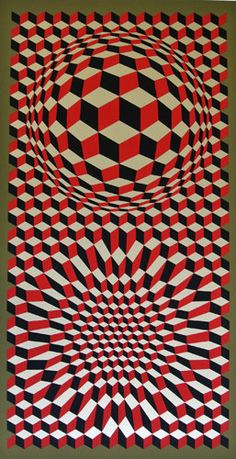 """Victor Vasarely - """"Untitled 1975"""""""