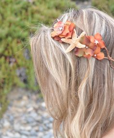beachy flower crown