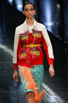 See detail photos from the Prada Spring 2017 show at Milan Fashion Week.
