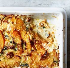 Expand your horizons this Christmas and switch your usual spuds for this creamy side. Roasted Squash, Butternut Squash, How To Make Salad, Food To Make, Steak And Chips, Cherry Cookies, Roasted Cherry Tomatoes