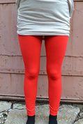 FLEECE LINED LEGGINGS- RED @Crave Boutique