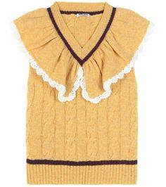 mytheresa.com - Ruffled wool sweater vest - Luxury Fashion for Women / Designer clothing, shoes, bags