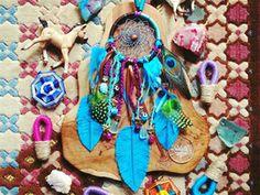 Trippico Dreamcatcher #Bohemian #Vibes #Colours #Colors #Blue #Feathers