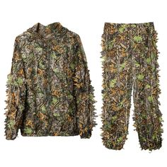 940632c85e4ae DoCred Ghillie Suit 3D Leaf Realtree Camo Camouflage Lightweight Clothing  Suits for Jungle Hunting, Shooting