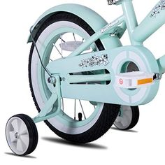 JOYSTAR 12 Inch Girls Bike with Training Wheels & Bell for 2 3 4 Years Children - BikeAddicts #bikes #bicycleaccessories #instafit #bikeLife #wheelie #bikeparts #bikegirl #bikeporn #amazon #mtb #cyclinglove #velo #sport #cyclinggear #garagestorage #bmx #femalecyclist #horsesaddles #FixedGearBikes #cruiserbikes #exercisebike #kids Best Kids Bike, Bike With Training Wheels, Cruiser Bicycle, Female Cyclist, Beach Kids, Rubber Tires, Bike Parts, Fixed Gear, Bicycle Accessories