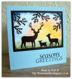 Christmas Carol Inspired Deer Trio Season's Greetings card by FubsyRuth - Cards and Paper Crafts at Splitcoaststampers