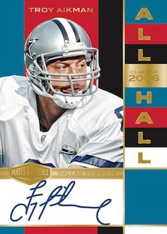All Hall Gold Troy Aikman Cincinnati Bengals, Indianapolis Colts, Pittsburgh Steelers, Carolina Panthers Luke Kuechly, Mason Rudolph, Blake Bortles