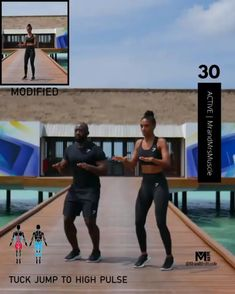 Add this fat burning lower body exercise to your cardio HIIT routine to burn calories. Cardio Workout Plan, Full Body Hiit Workout, Gym Workout Videos, Fitness Workout For Women, Butt Workout, Gym Workouts, At Home Workouts, Core Workout Challenge, Cardio Yoga