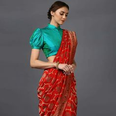 25 Blouse Back Designs You Can Actually Get Your Local Tailor To Do - Want to see some cool, simple to replicate Blouse Back Designs? Check out amazing styles in full sleeves, backless, with bows and many more in this post. Blouse Back Neck Designs, Silk Saree Blouse Designs, Saree Blouse Patterns, Fancy Blouse Designs, Bridal Blouse Designs, Pattern Blouses For Sarees, Designer Saree Blouses, Latest Blouse Designs, Latest Blouse Patterns
