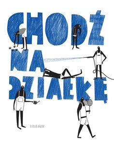'Chodź na działkę' by Paulina Daniluk Art Deco Posters, Buy Posters, Movie Posters, Polish Posters, Art Deco Period, Vintage Pictures, Summer Time, Retro Vintage, Typography