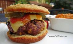 Cheeseburgers In Paradise On Grain Free Sesame Seed Buns | Gourmet Girl Cooks
