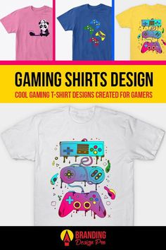 Gaming Shirts | A collection of gaming shirt designs from the brands Just Gaby Gaming, Jay's Xtreme Gaming, and Kenal Louis. Creative, Cute, Artistic, Cool Graphic Tees for Gamers. Gamer Tee Shirts. Get The Shirt You Love today! #gamer #tees #tshirt #shirts Cool Graphic Tees, Graphic Design, Splinter Cell, Who Plays It, Gamer Shirt, Youtube Gamer, Shirt Store, Personalized T Shirts, Custom T