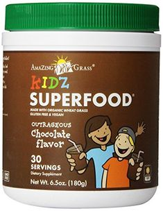Amazing Grass Kidz SuperFood Powder, Chocolate, 6.5 Ounce *** Read more info by clicking the link on the image.