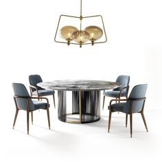 Claire Table with Lazy Susan Ulivi Salotti - Artemest Circle Dining Table, Dining Room Table, Lazy Susan Table, Cabinet Makers, Contemporary Interior, Glass Shades, Claire, Furniture, Chesterfield