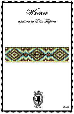 Bead Loom Pattern Loom Pattern Beading Pattern Native American Southwest Pattern Diamond Pattern Indian Geometric Print Warrior Pattern