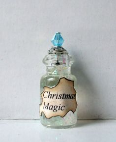 Gothic Witch Christmas Magic spell bottle dollhouse miniature Christmas holiday