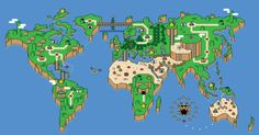 World map...super mario 3 style