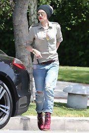 Gwen Stefani Ripped Jeans