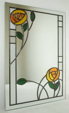 İlgili resim Stained Glass Mirror, Stained Glass Flowers, Stained Glass Designs, Stained Glass Panels, Stained Glass Projects, Stained Glass Patterns, Leaded Glass, Mosaic Glass, Glass Mirrors