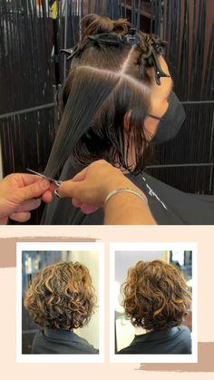 Hairdo For Long Hair, Curly Hair Tips, Curly Hair Styles, Messy Curls, Short Curls, Hairstyles Haircuts, Pretty Hairstyles, Gray Hair Highlights, Hair Cutting Techniques