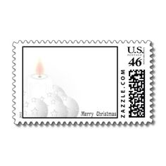 Merry White Christmas Postage Stamp for you at www.zazzle.com/superdumb #zazzle #christmas #xmas
