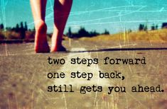 Stumbling today does not erase your accomplishments. Keep going and do the next best thing!