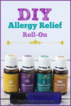 "Say ""good-bye"" to constant sneezing and itchy, watery eyes with this all-natural remedy for seasonal allergies! or just do three drops of each peppermint, lavender, and lemon in capsule. Young Essential Oils, Essential Oil Uses, Natural Essential Oils, Vie Simple, Seasonal Allergies, Living Essentials, Just In Case, Diabetes, At Least"