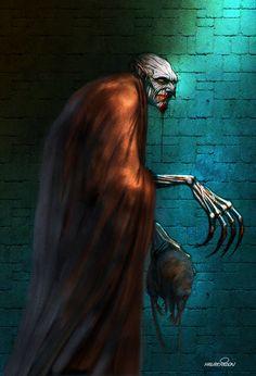 Vampire: The Masquerade - Nosferatu Character name: Mobis Morphine High Fantasy, Fantasy Art, Monster Vampire, Modern Vampires, Vampire Masquerade, Dark Spirit, Humanoid Creatures, Dark Artwork, Cool Monsters