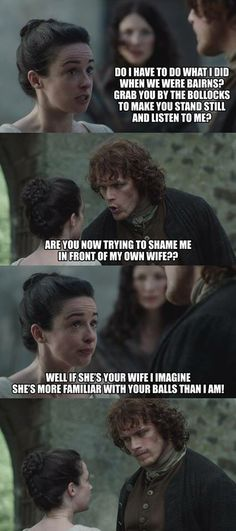 #Outlander # Jenny I really like this in the show but I loved the book version of this scene even more. Laugh out loud moment!